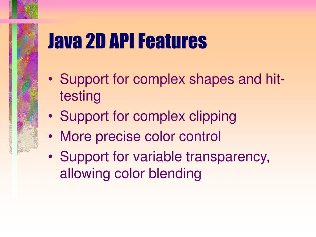 Java 2D API Features
