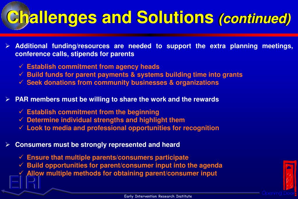 Challenges and Solutions