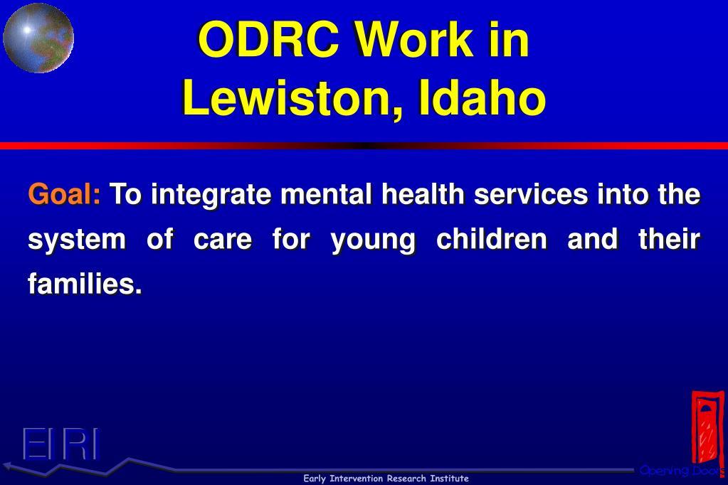 ODRC Work in