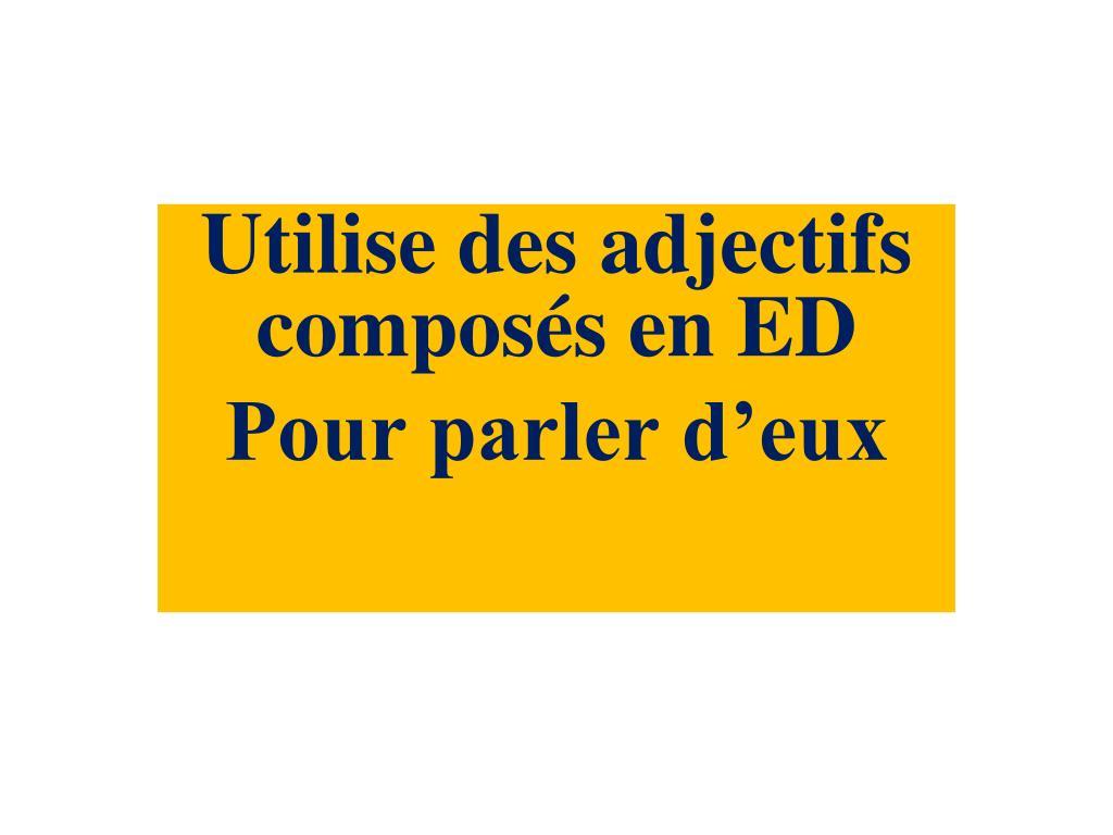 Utilise des adjectifs composés en ED