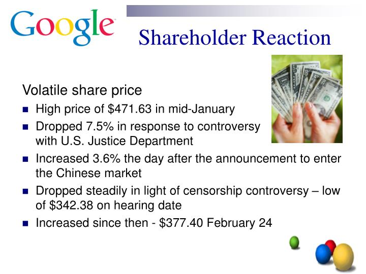 Shareholder Reaction