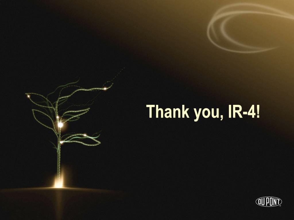 Thank you, IR-4!