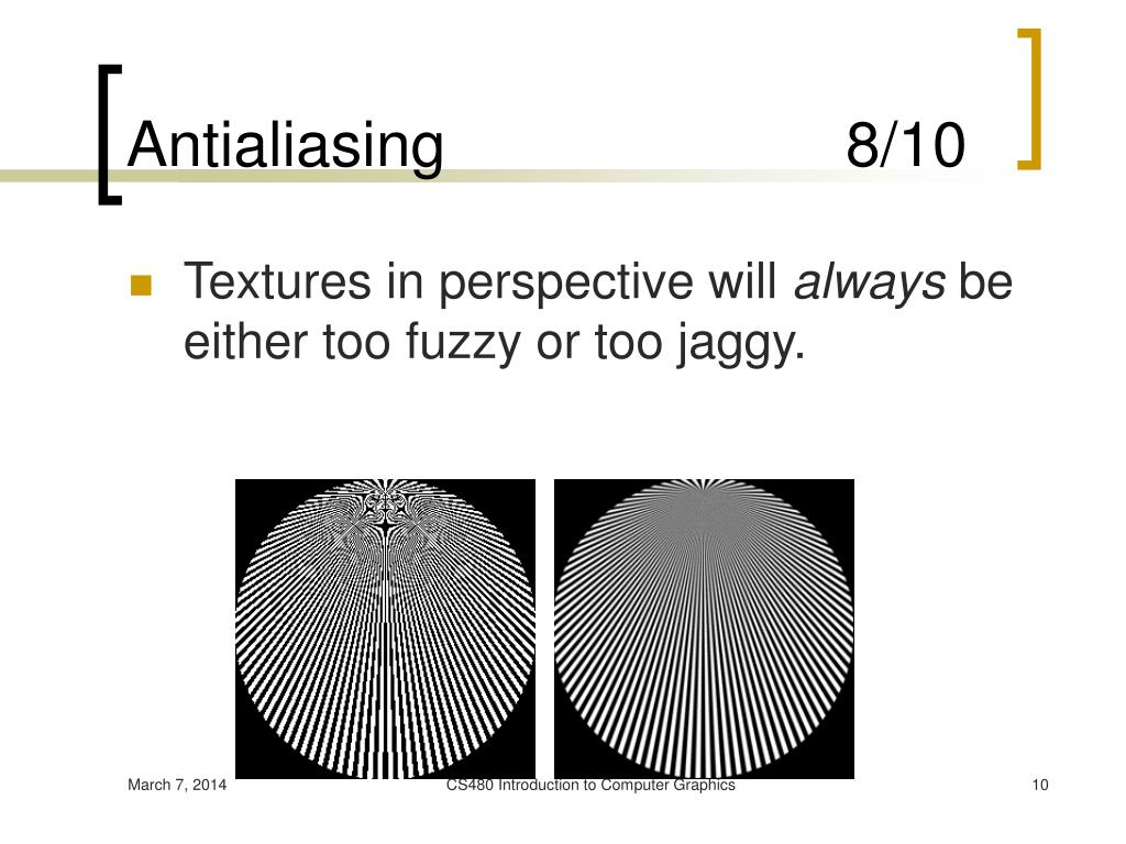 Antialiasing                       8/10
