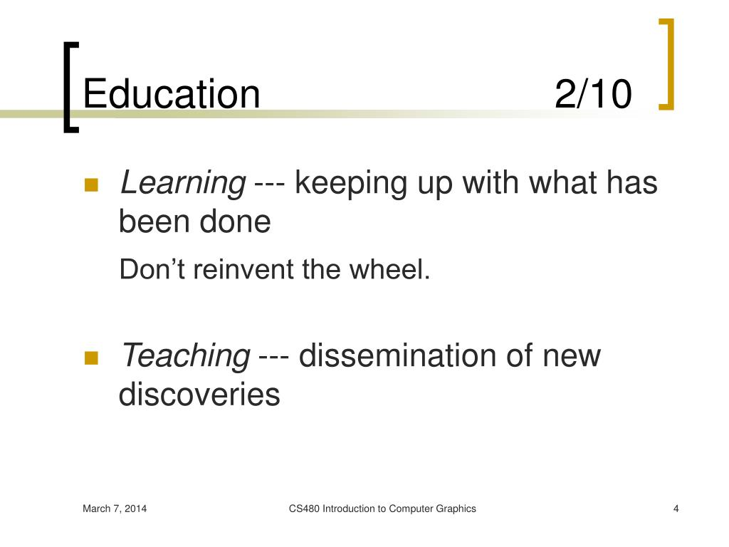 Education                          2/10