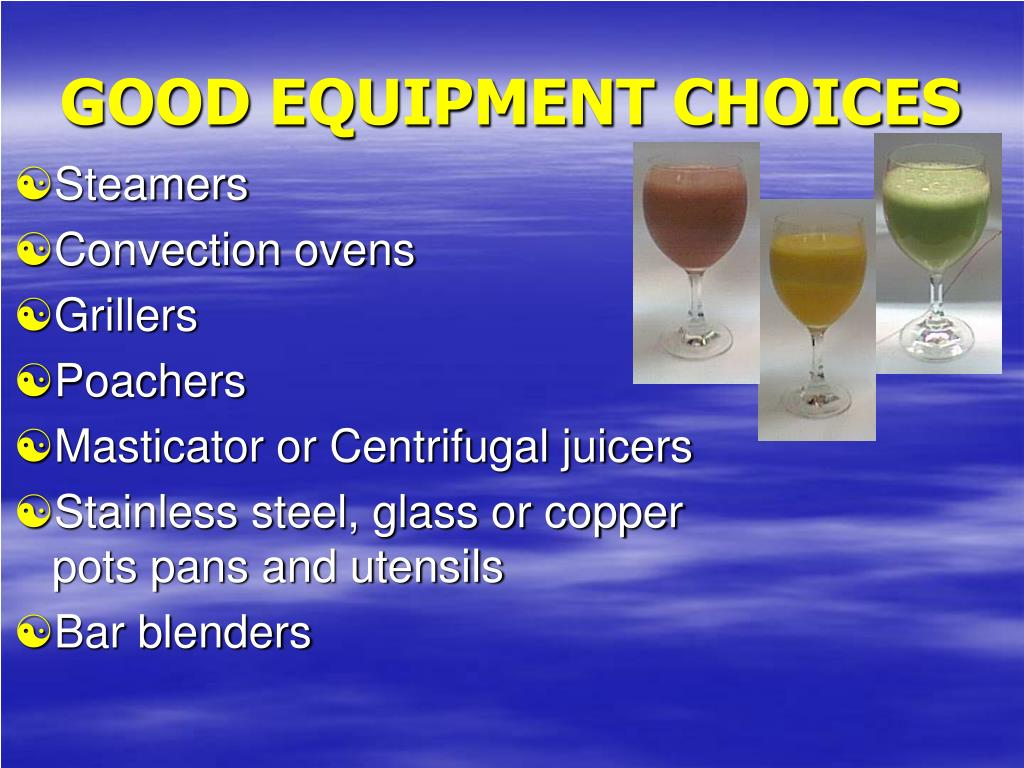 GOOD EQUIPMENT CHOICES