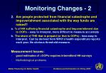 monitoring changes 2