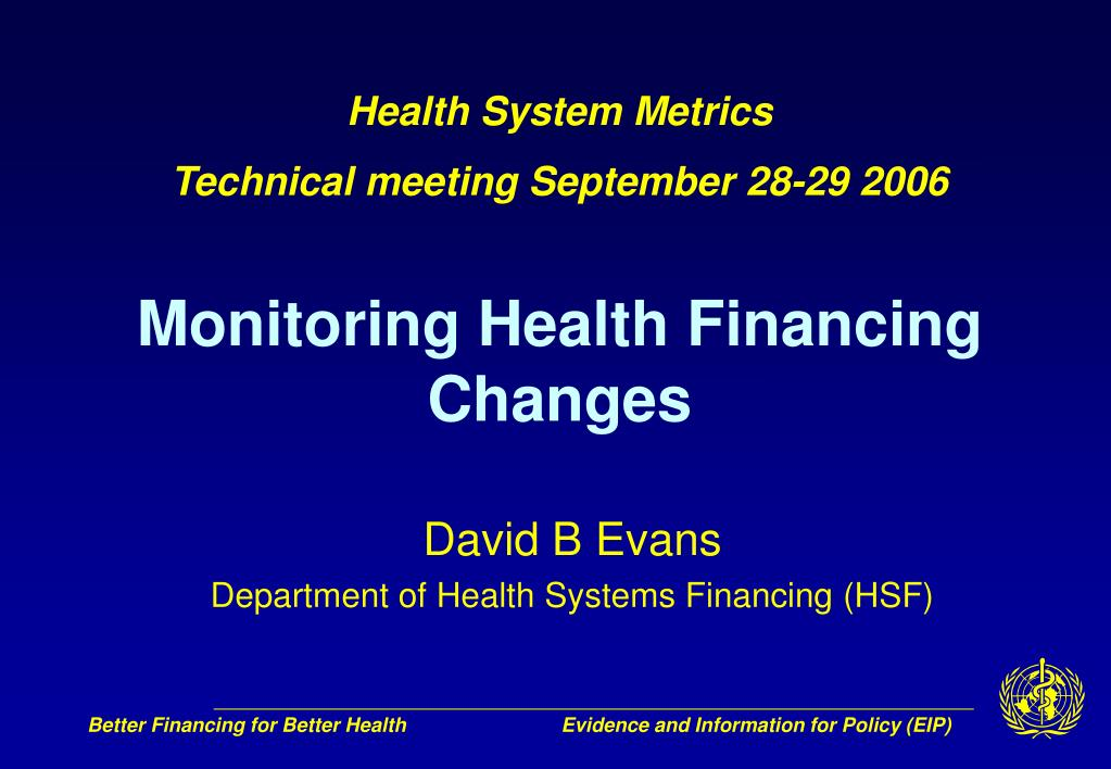 Health System Metrics