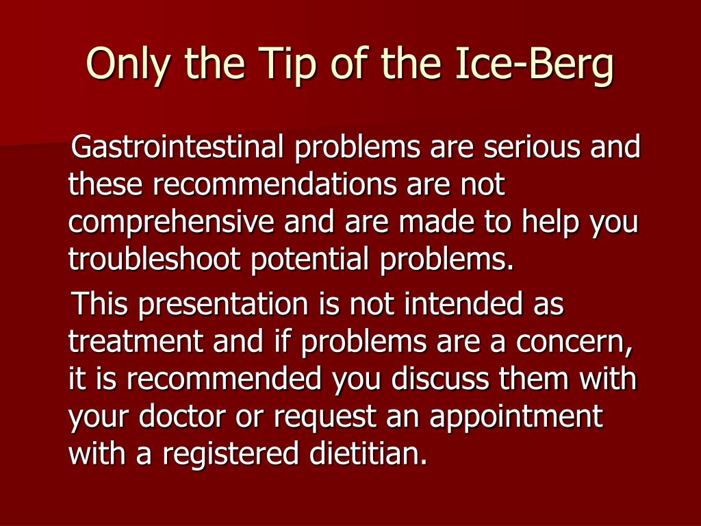 Only the Tip of the Ice-Berg