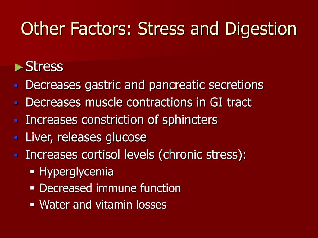Other Factors: Stress and Digestion