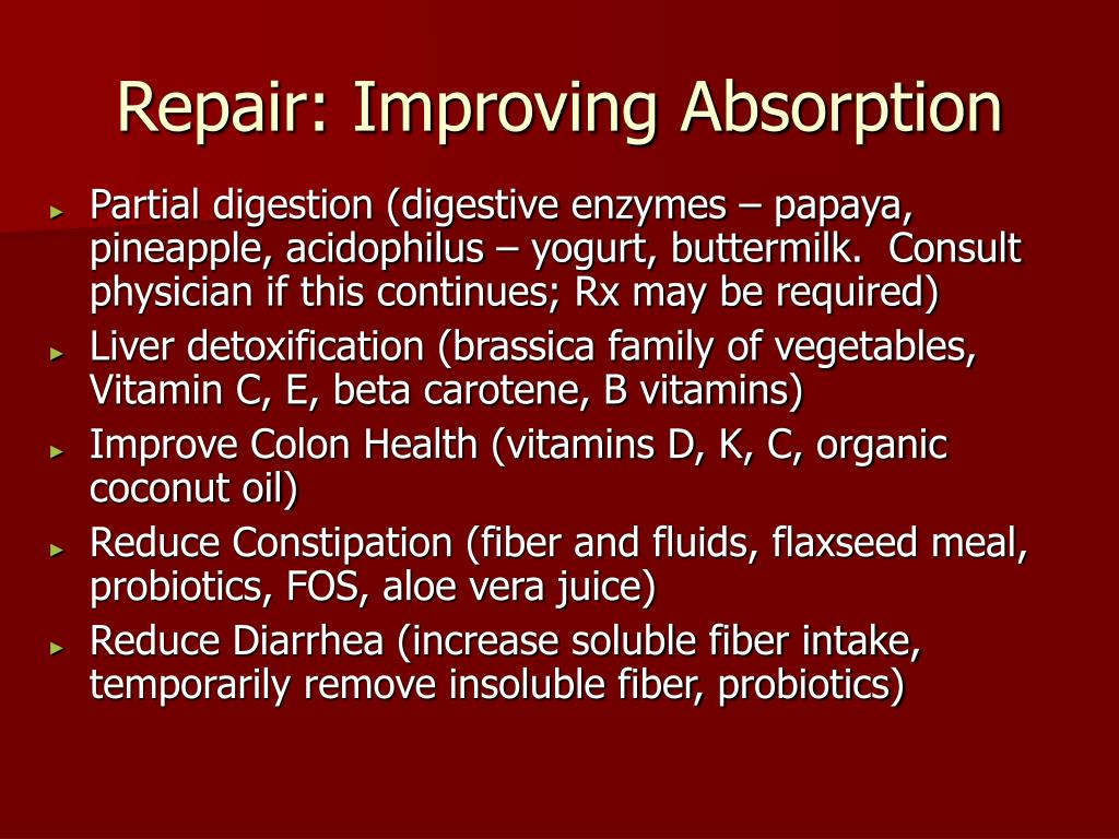 Repair: Improving Absorption