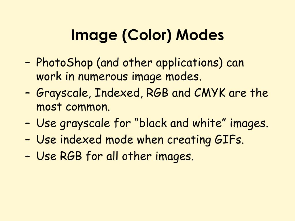 Image (Color) Modes