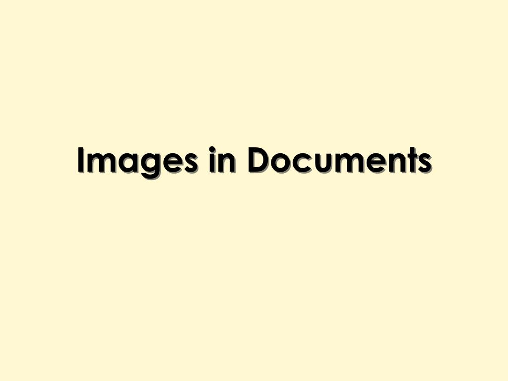 Images in Documents