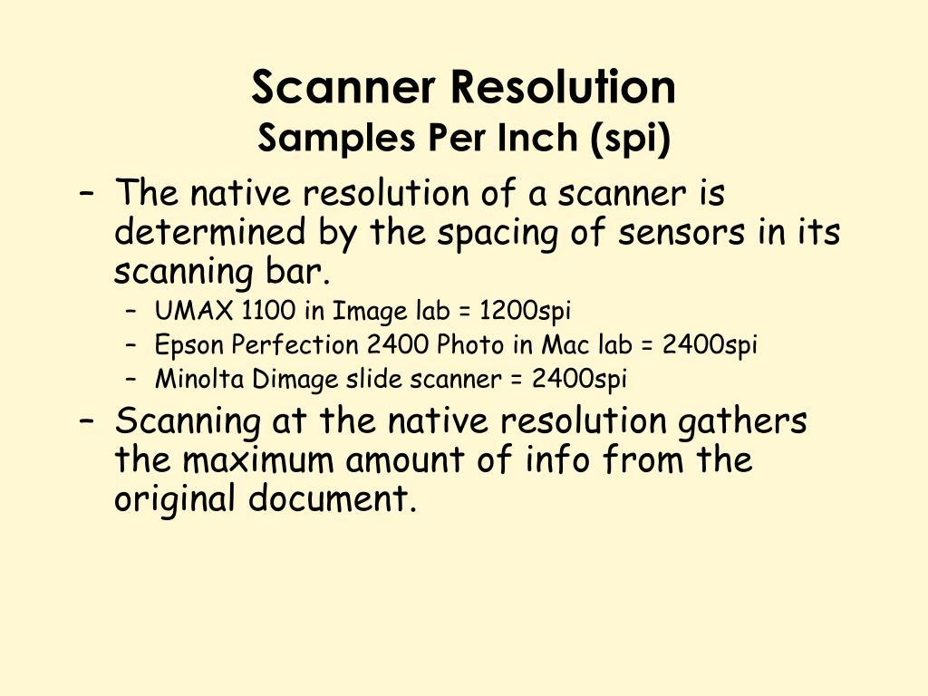 Scanner Resolution