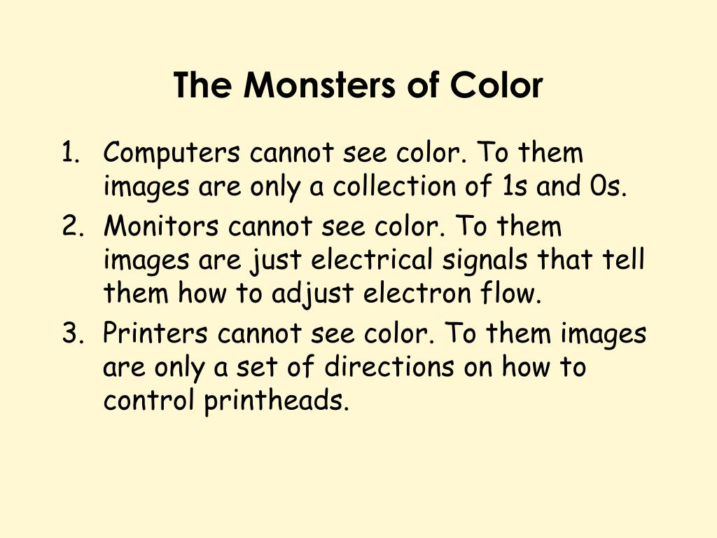 The Monsters of Color