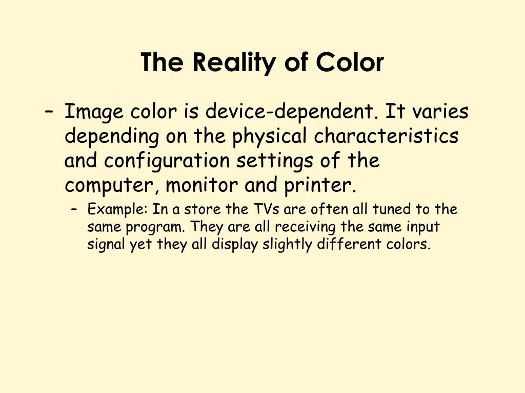 The Reality of Color