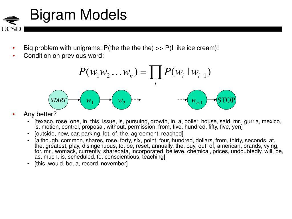 Bigram Models