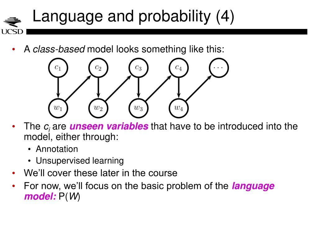 Language and probability (4)