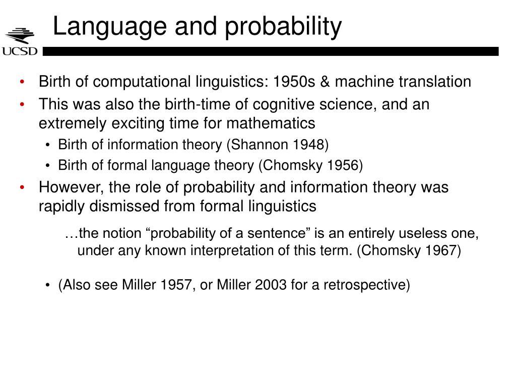 Language and probability
