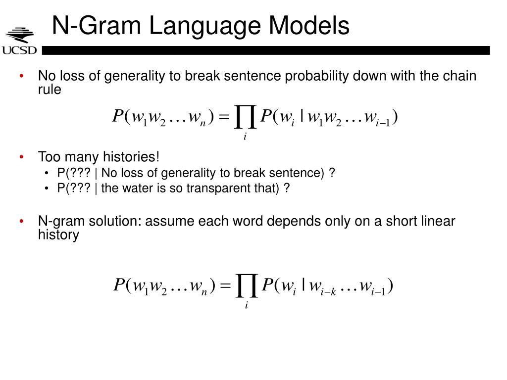 N-Gram Language Models