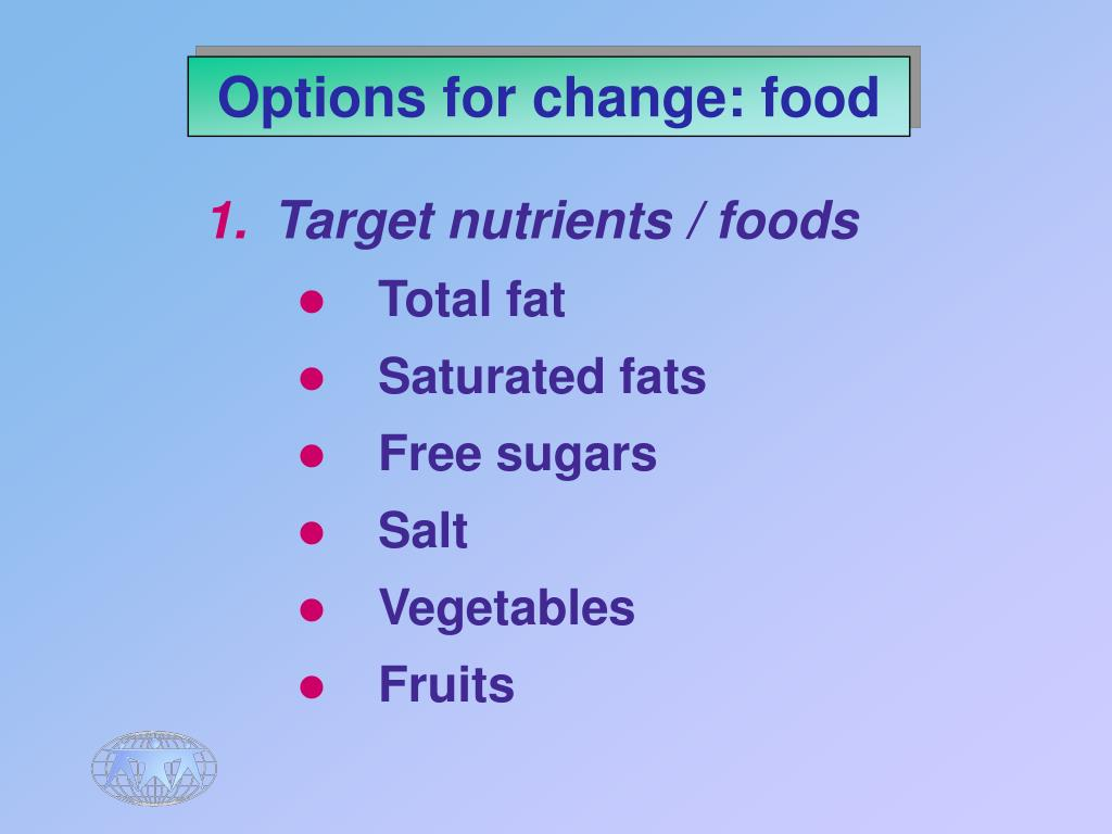 Options for change: food