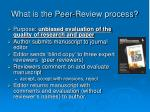 what is the peer review process