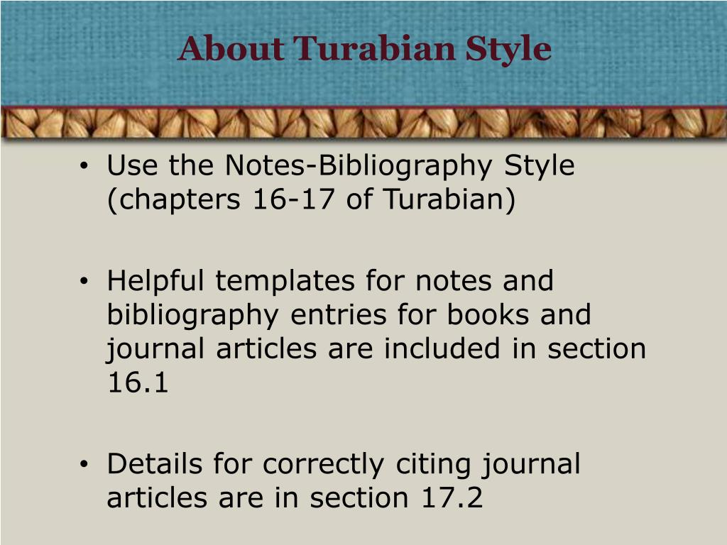 About Turabian Style
