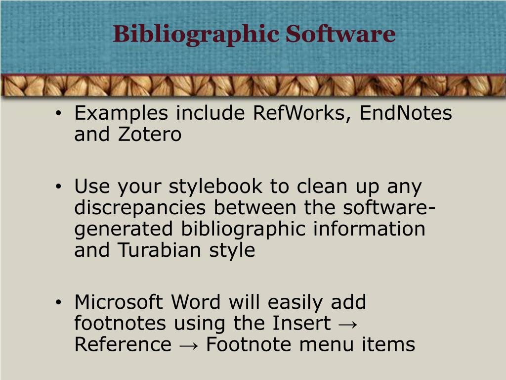 Bibliographic Software