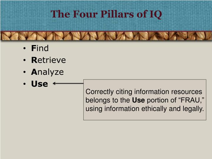 The four pillars of iq