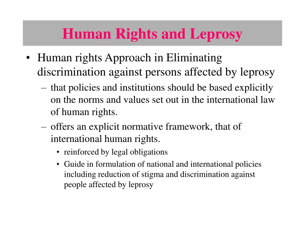 Human Rights and Leprosy