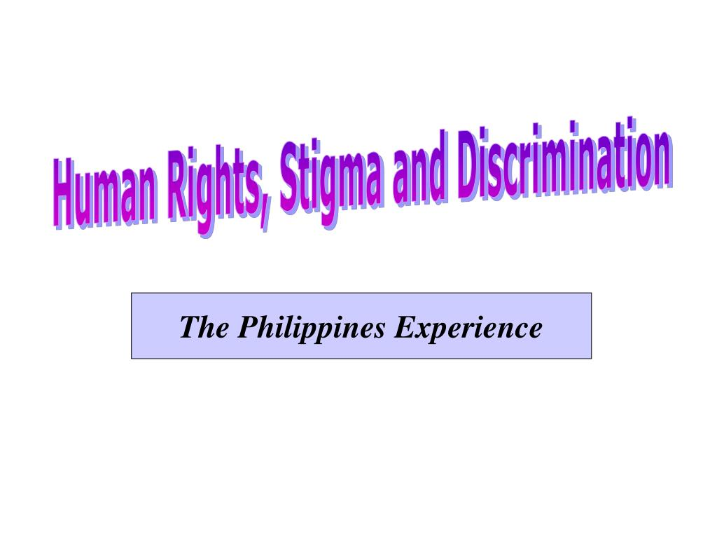 Human Rights, Stigma and Discrimination