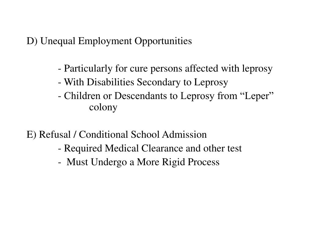 D) Unequal Employment Opportunities