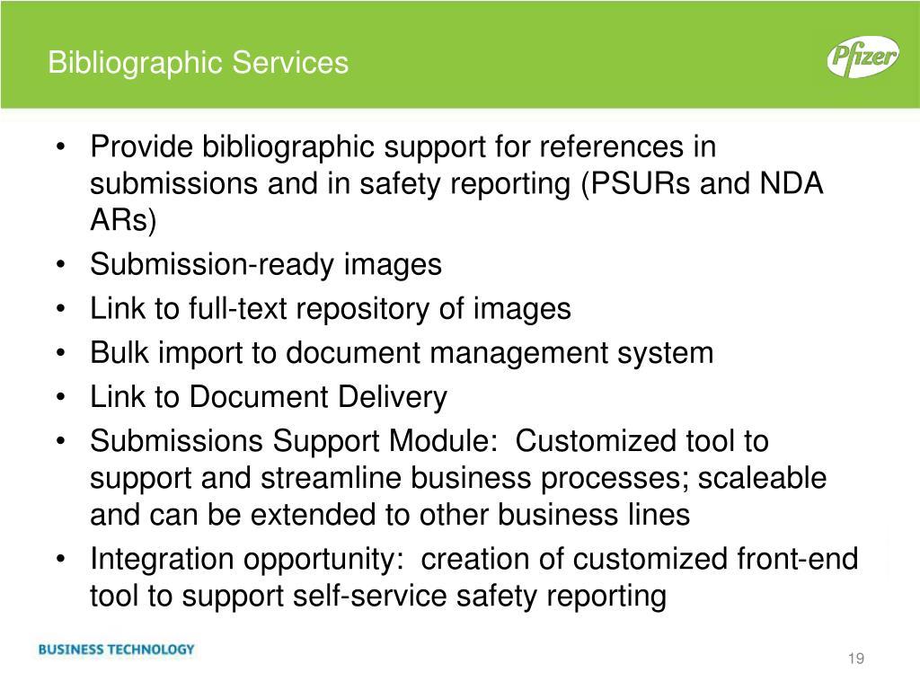 Bibliographic Services