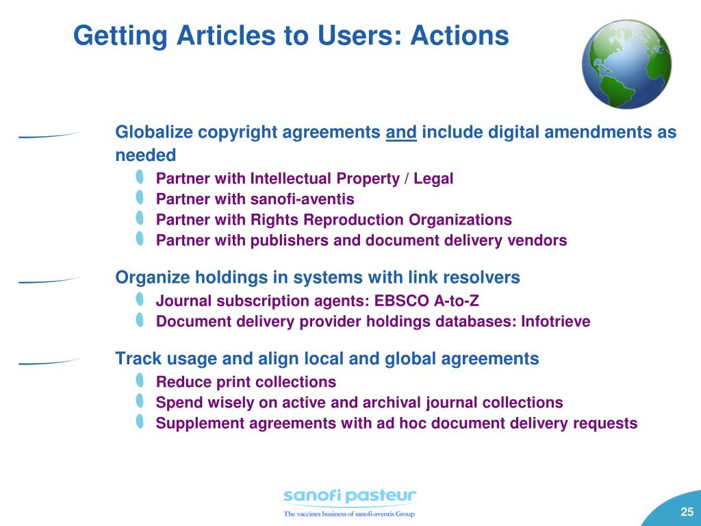 Getting Articles to Users: Actions