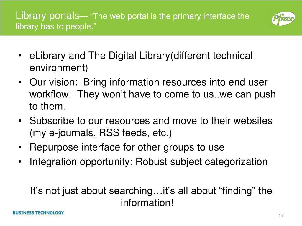 Library portals