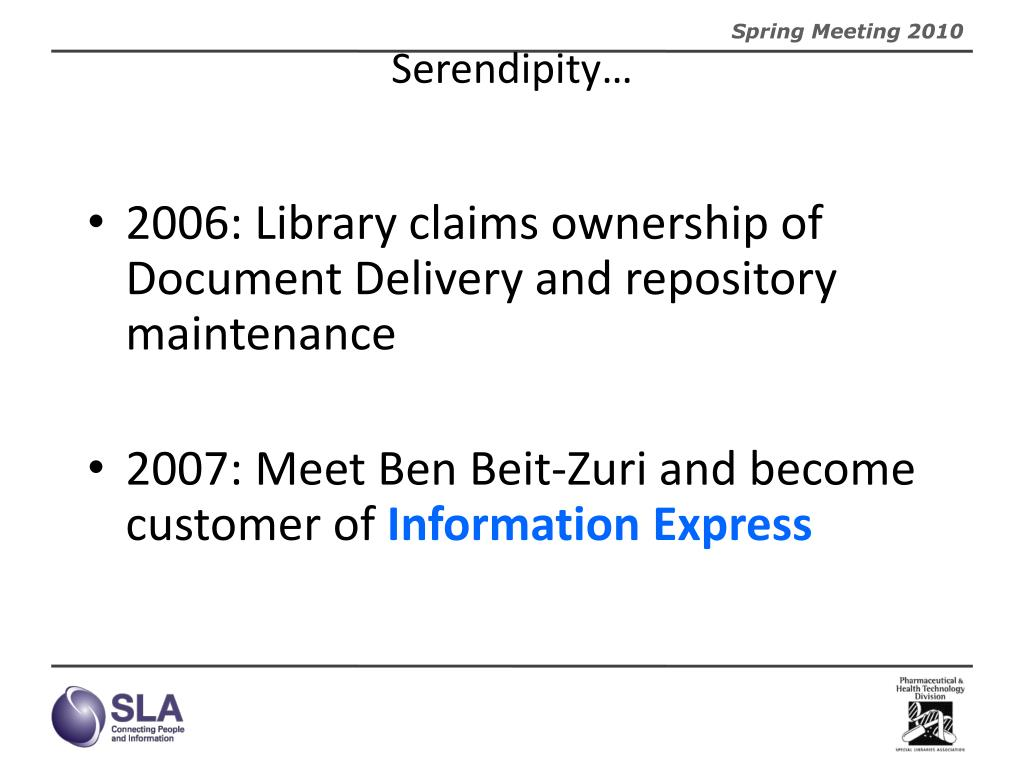 Serendipity…
