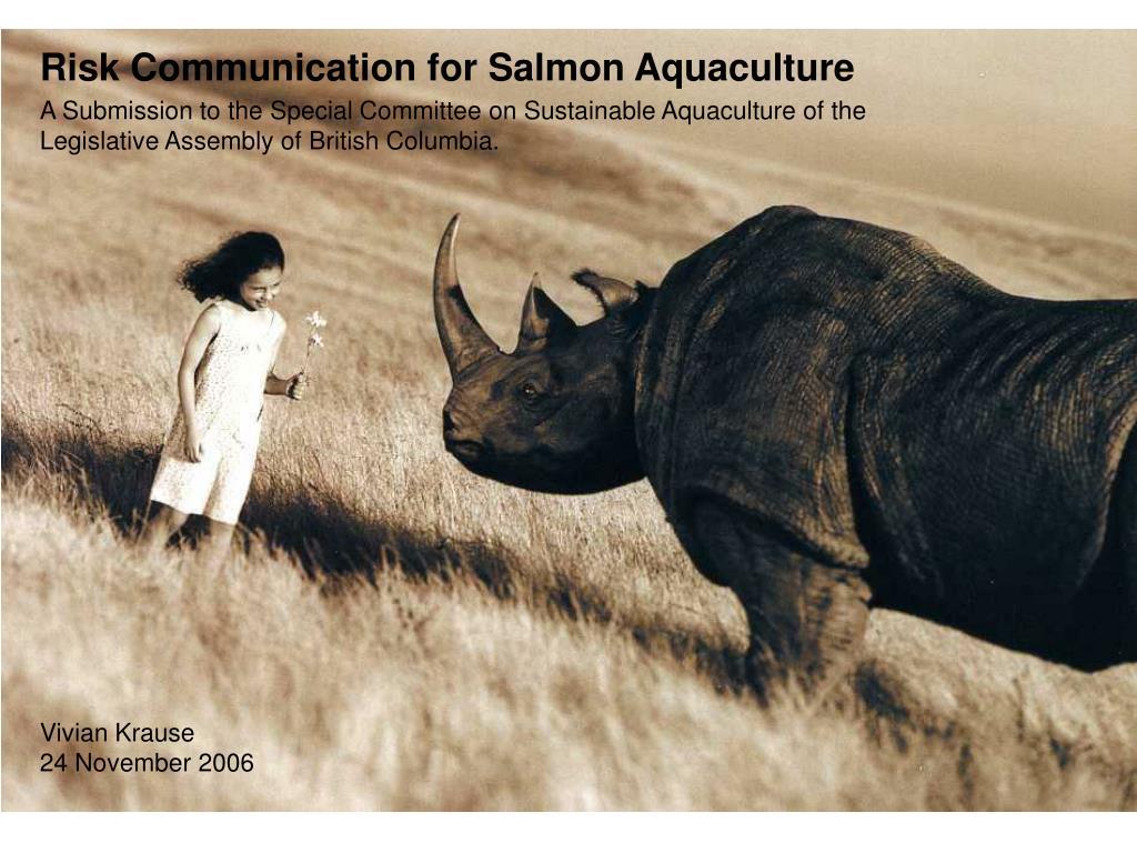 Risk Communication for Salmon Aquaculture