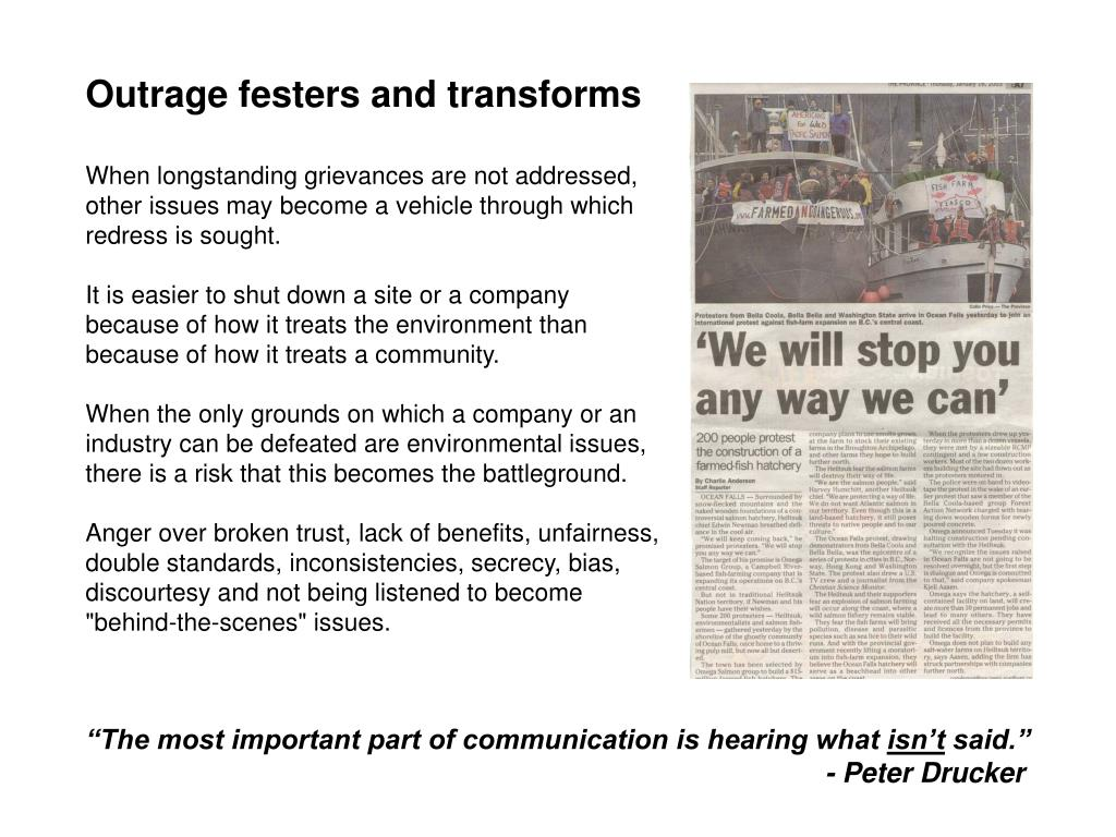 Outrage festers and transforms