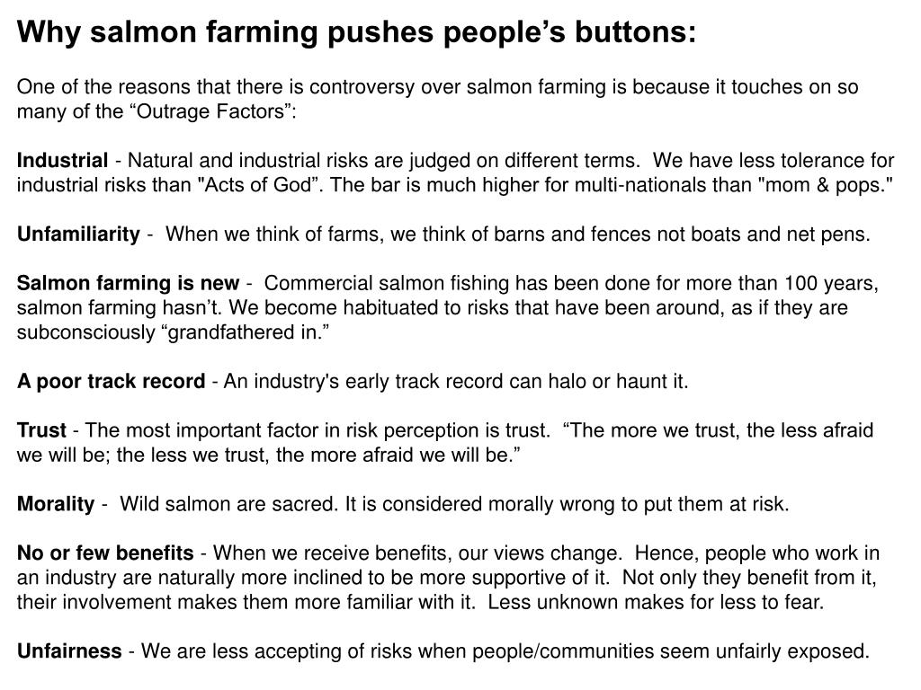 Why salmon farming pushes people's buttons: