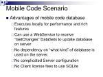 mobile code scenario