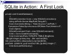 sqlite in action a first look
