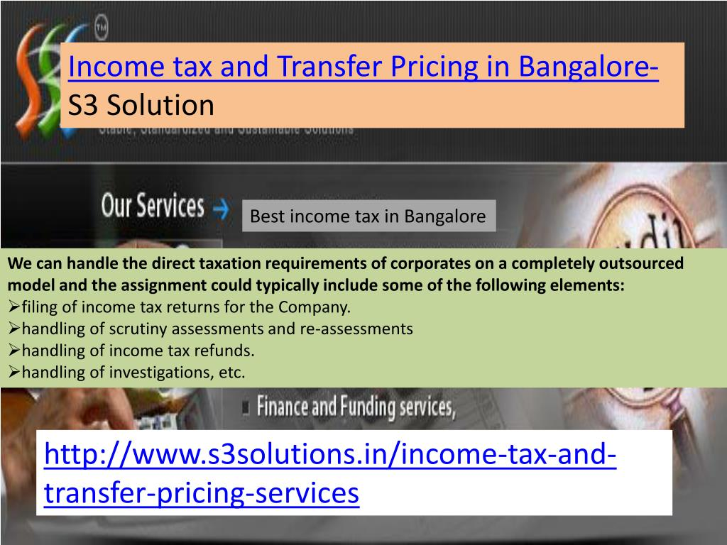 Income tax and Transfer Pricing in