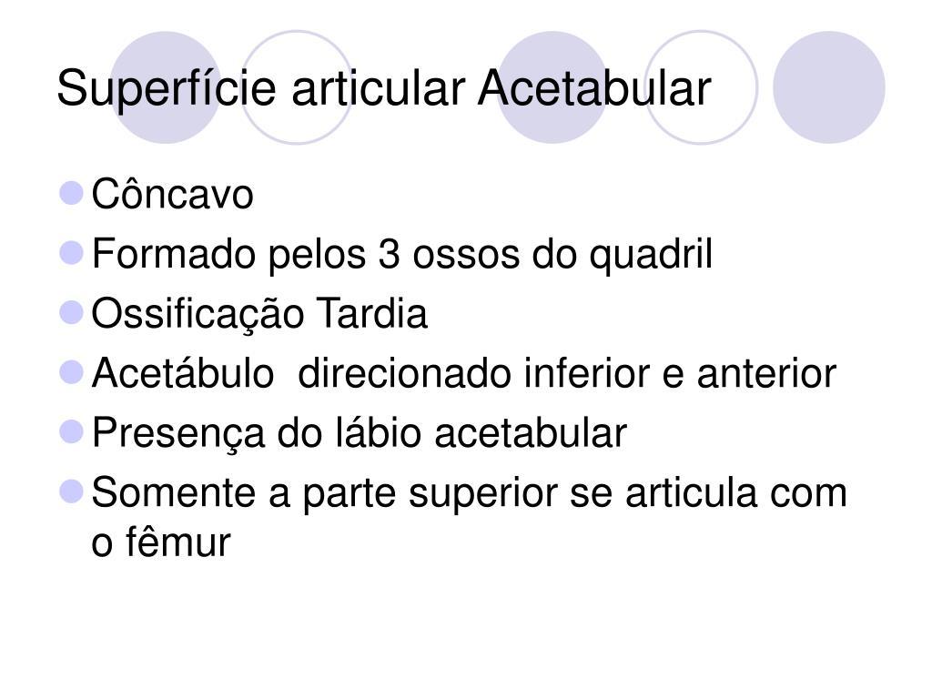 Superfície articular Acetabular