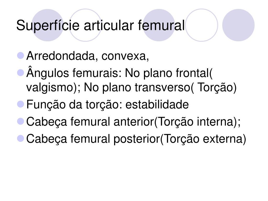 Superfície articular femural