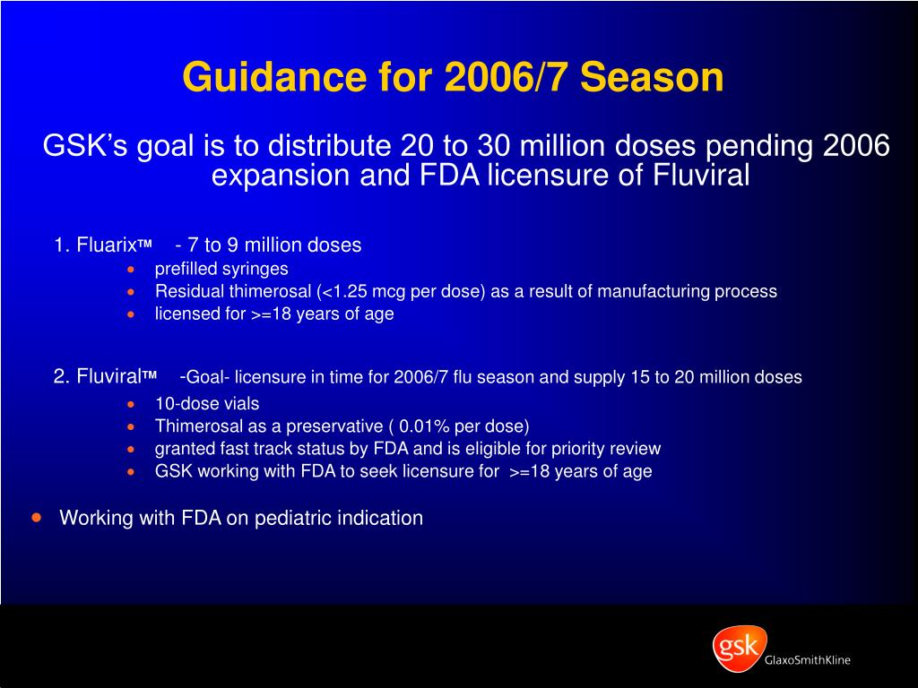 Guidance for 2006/7 Season