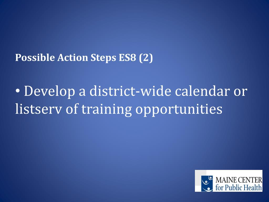 Possible Action Steps ES8 (2)