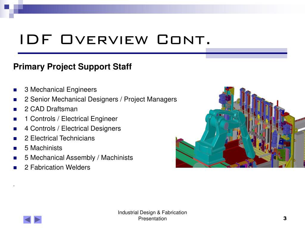 IDF Overview Cont.