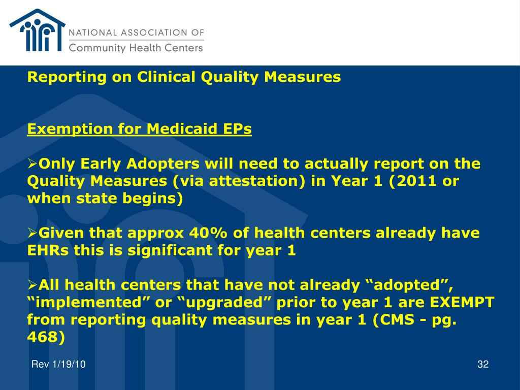 Reporting on Clinical Quality Measures