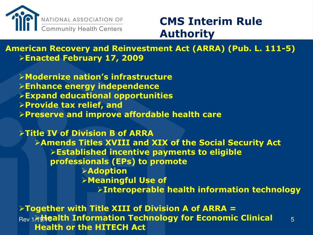 CMS Interim Rule