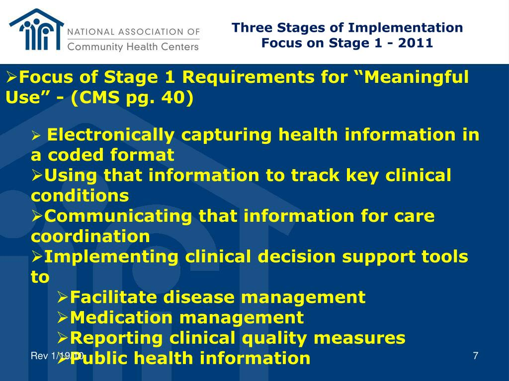 Three Stages of Implementation