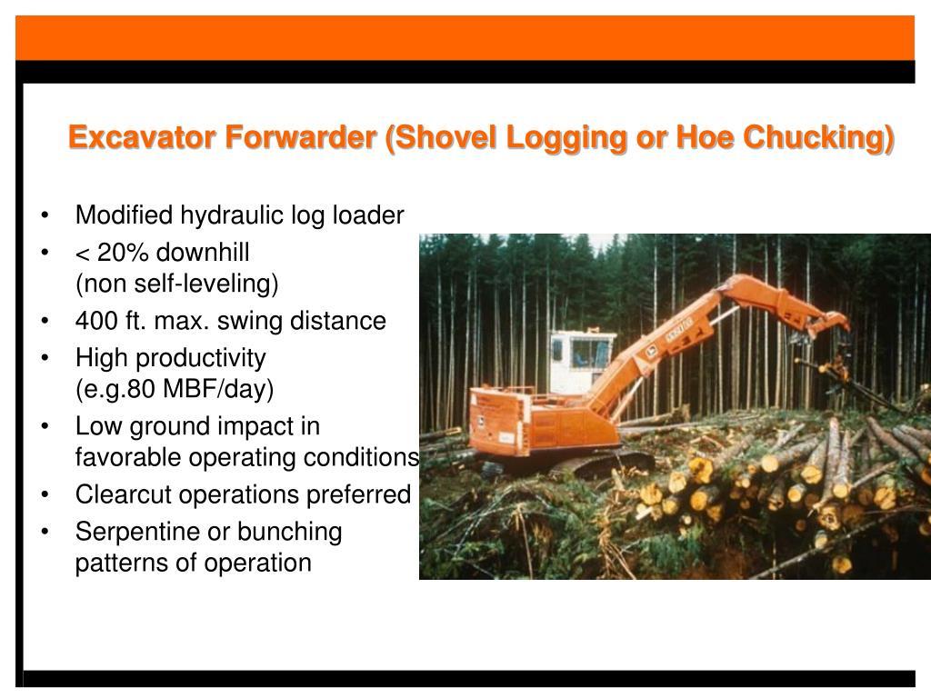 Excavator Forwarder (Shovel Logging or Hoe Chucking)